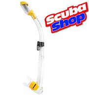 Трубка с двумя клапанами для подводного плавания и дайвинга CRESSI-SUB Dry YELLOW, цвет желтый