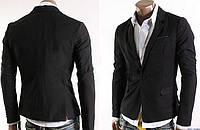 Приталенный  мужской пиджак на одной пуговице