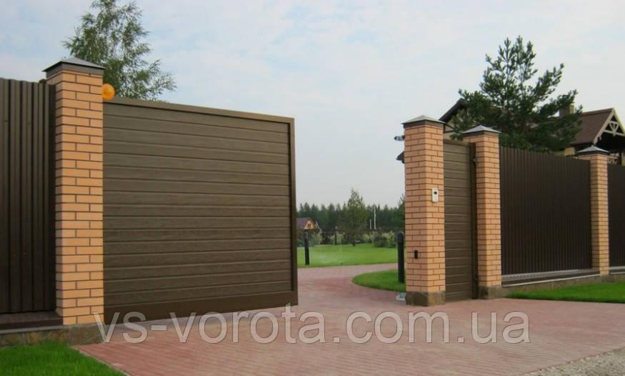 Комплект откатных ворот Alutech ADS400 (3750х2460)