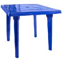 Стол пластик квадратный темно синий 80х80 см