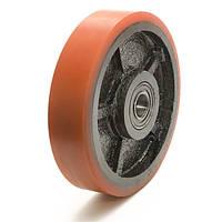 Колесо без кронштейна, диаметр 200 мм, нагрузка 850 кг, Фрегат 51 200 ШФ-Л (Полиуретан /  чугун) облегченное