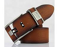 Мужской кожаный ремень levis (503) brown