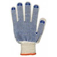 """Защитные перчатки из толстого трикотажа с односторонним точечным покрытием """"Белые Х/Б"""""""