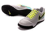 Футбольные сороконожки Nike Tiempo X Genio II TF Wolf Grey/Black/Clear Jade, фото 1