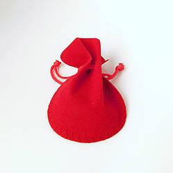 Подарочный мешочек красный 54322 размер 8х7 см