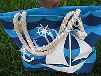 Пляжная сумка Кораблик