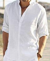 Лляна сорочка на високого чоловіка. Розмір XS-10XXL