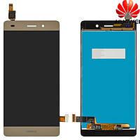 Дисплейный модуль (дисплей + сенсор) для Huawei P8 Lite, ALE L21, золотистый, оригинал