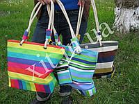 Пляжная сумка с кошельком, Полосы