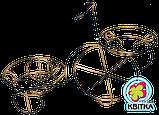 Кованая подставка для цветов Велосипед 2, фото 2