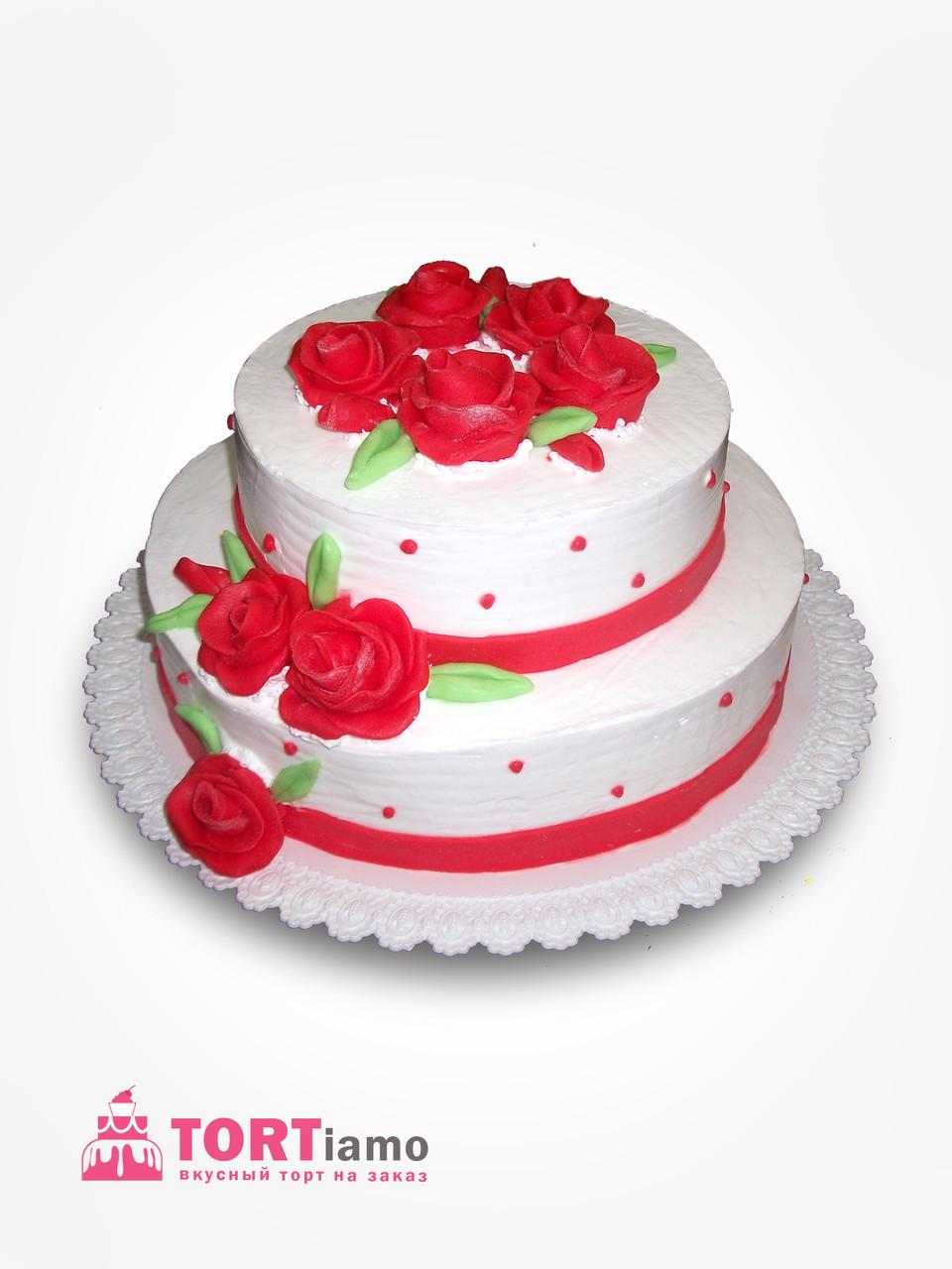 "Торт на свадьбу  ""Розы"" на заказ"