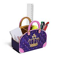 Подставка под канцтовары Фиолетавая дизайнерская сумочка