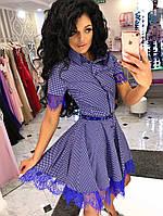 Платье-рубашка фасон - каскад