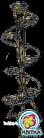 Кованая подставка для цветов Спираль 7
