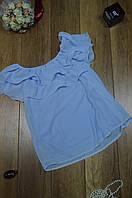 Женская шифоновая блуза с валаном Италия