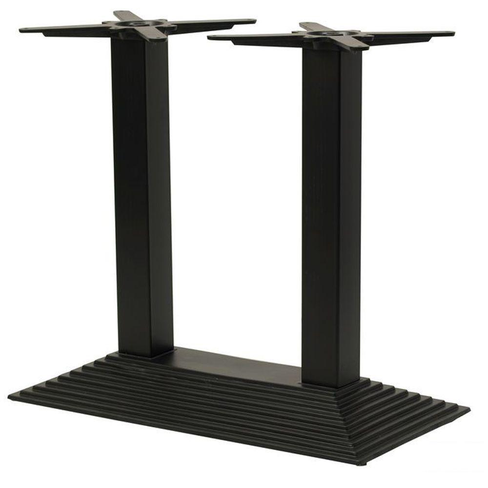 Ножка для стола Пирамида Нью Дабл черный (TB119)