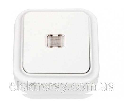 Выключатель одноклавишный с подсветкой Bylectrica Пралеска белый, фото 2