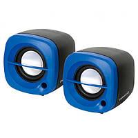 Акустичні колонки 2.0 Omega OG-15 USB Blue (OG15BL)