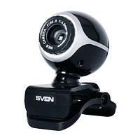 Веб-камера 0.3 Мп с микрофоном Sven IC-300 Black (IC-300 (SVEN) - веб-камера)
