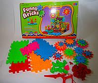 Детский развивающий, вращающийся 3D  конструктор Фанни Брикс (Funny Bricks), фото 1