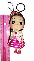 Кукла - брелок на сумку розовая