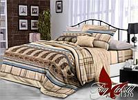 Бежевое постельное белье набор двуспальный Империал