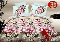 Красивое постельное белье 3D 2 спальное Цветы