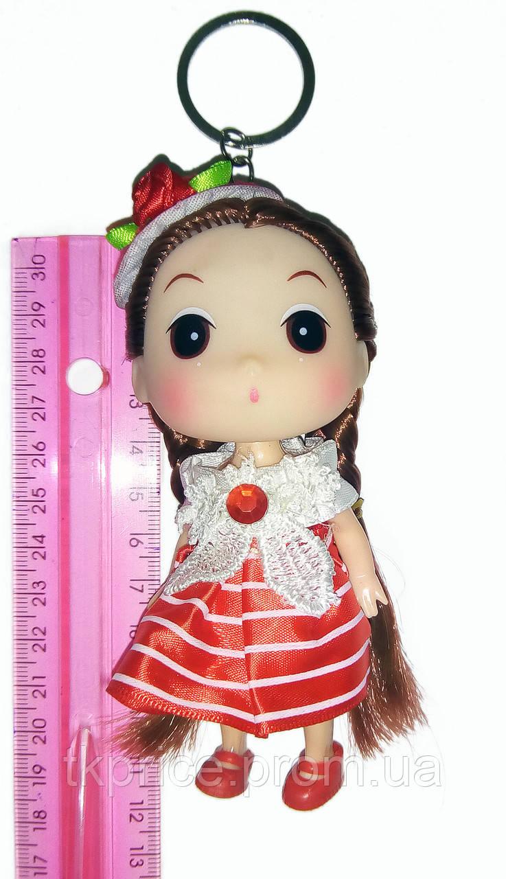 Кукла - брелок на сумку красная
