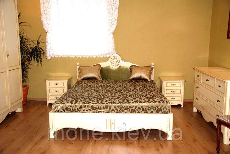 """Кровать """"Леонора"""" из натурального  дерева двуспальная"""
