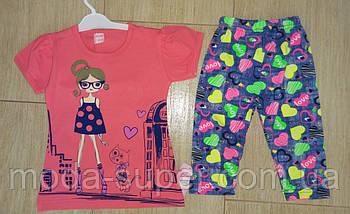 Комплект на девочку футболка и бриджи, фото 3