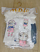 Комплект на дівчинку з джинсовими шортиками