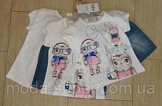 Комплект на девочку с джинсовыми шортиками, фото 3