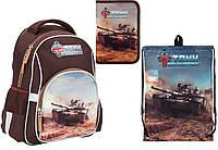 """Комплект школьный. Рюкзак """"Tank Domination"""" TD17-513S, Пенал и Сумка, ТМ  KITE"""