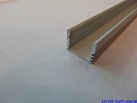 Алюминиевый накладной профиль для светодиодных лент ЛП12+рассееватель