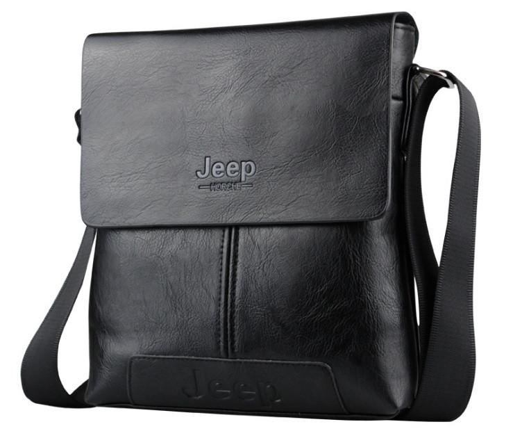 Сумка Jeep мужская через плечо черная