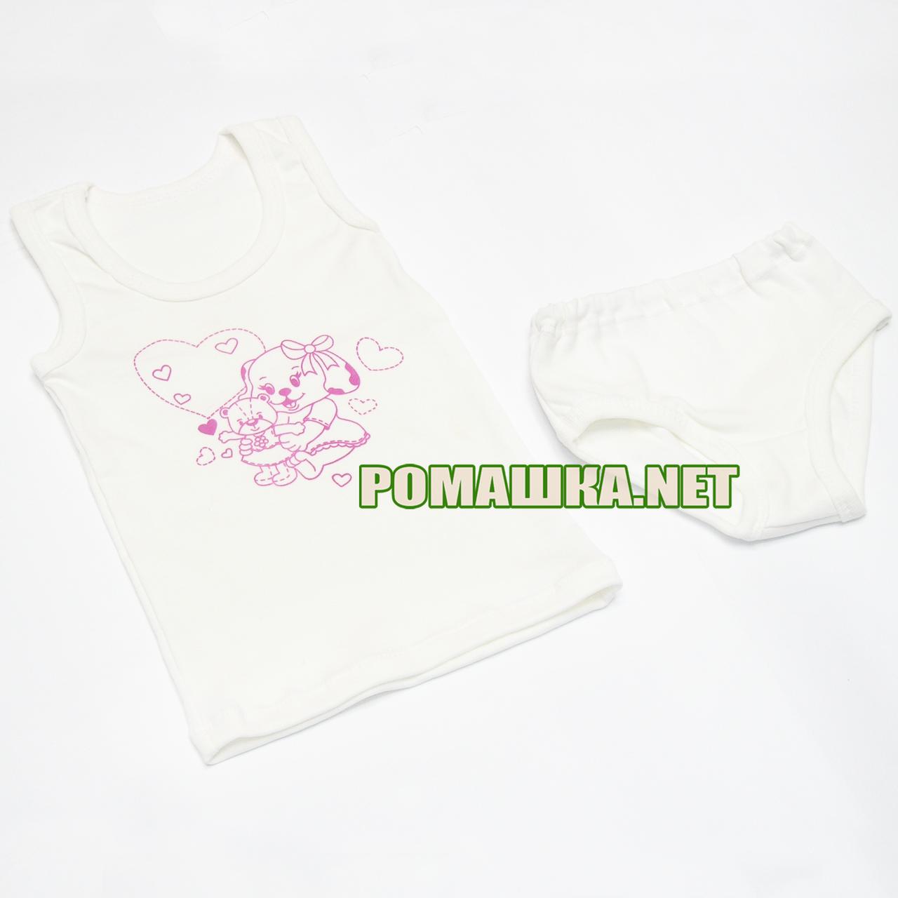 4305e6fb8c4a5 Детский комплект белья р. 92-98 для девочки трусики и маечка ткань КУЛИР 100