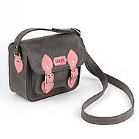 Серо-розовая сумочка