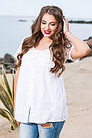 Летняя женская блуза хлопок.Натуральная ткань Размер: М 46-48,L 48-50,Xl 50-52, фото 1