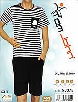 Пижама мужская в полоску с бриджами