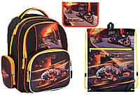 """Комплект школьный. Рюкзак """"Speed racing"""" K17-514S-2, Пенал и Сумка, ТМ  KITE"""