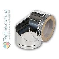 Коліно-сендвіч 45° для димоходу d 250 мм; 0,8 мм; AISI 304; неіржавіюча сталь/неіржавіюча сталь - «Версія-Люкс», фото 2