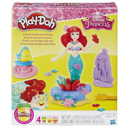 Набор Плей До русалочка принцесса Ариель и ее друзья с аксессуарами / Play-Doh Ariel Playset