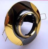 Спот Lemanso AL8174 чёрный(графит) - золото R50