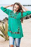 Летняя женская блуза хлопок два цвета.Натуральная ткань Размер:  44-46, 46-48,48-50, 50-52, фото 1