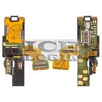 Шлейф для мобильных телефонов Sony Ericsson LT15i, LT18i, X12, c датчиком приближения, коннектора на