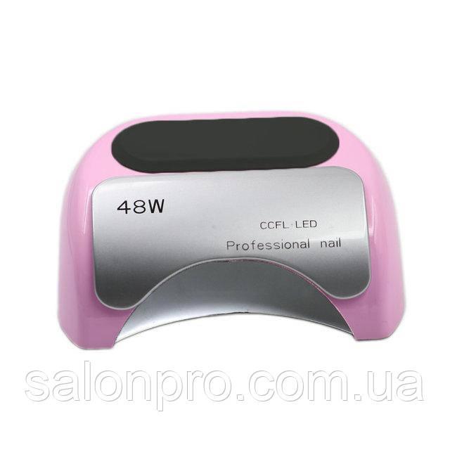 LED+CCFL лампа для гель-лаков и геля 48 Вт, нежно розовая