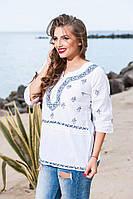 Летняя женская блуза хлопок.Натуральная ткань Три четверти рукав Размер: М 46-48,L 48-50,XL 50-52 , фото 1