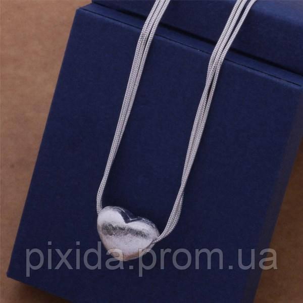 Подвеска тройная Сердце  покрытие серебром 925 проба