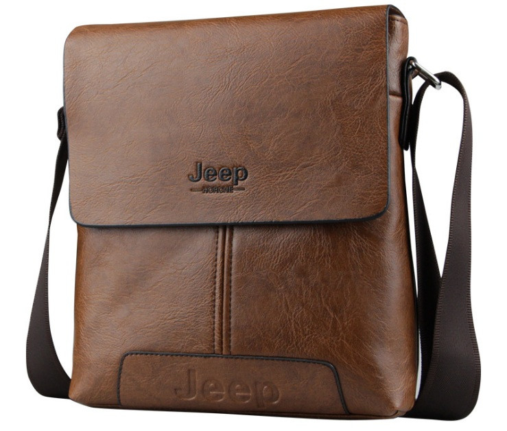 Сумка Jeep мужская через плечо светло-коричневая