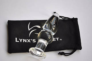 Анальная пробка LYNX Ice Plug B 3,2 см стекло, фото 3